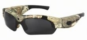 Lightweight eyewear with Realtree Camo frame and advanced mobile video recording system all-in-one!